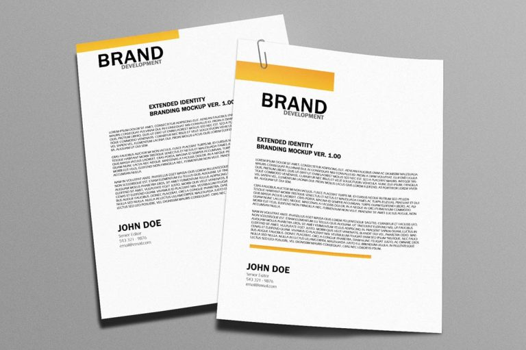 importance of having a letterhead for company