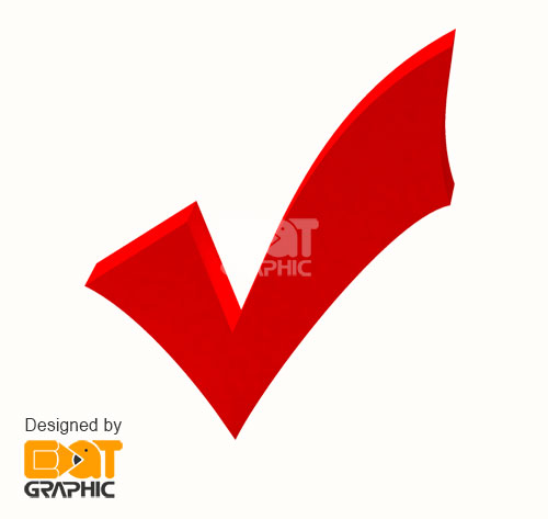 Red Tick PNG Image