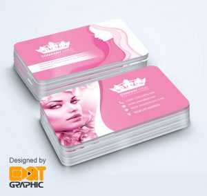 makeup artist business card psd