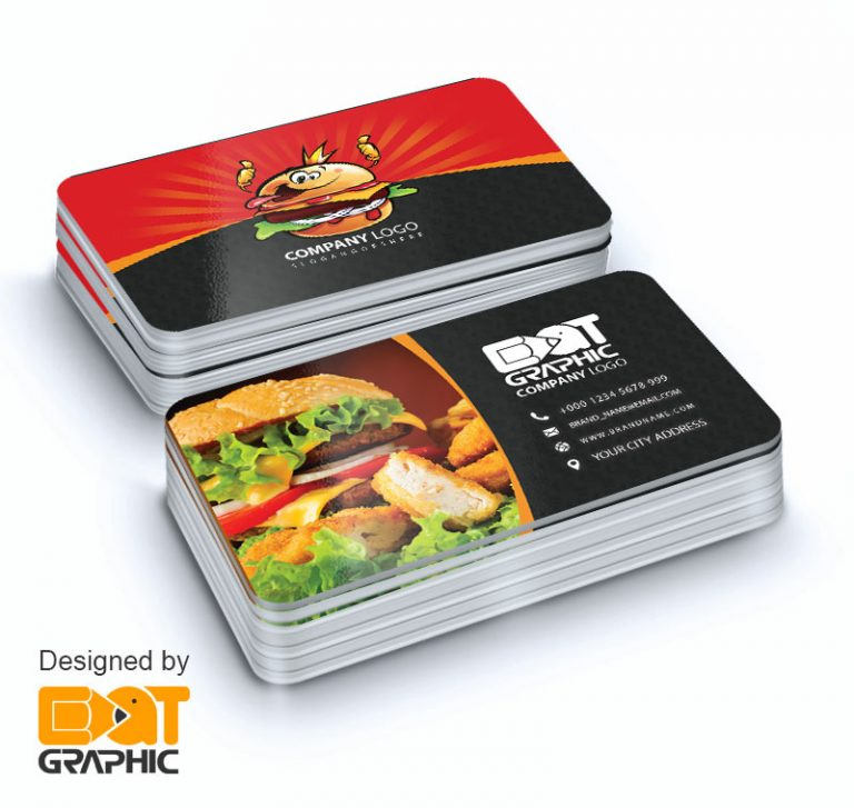 fast food business card design