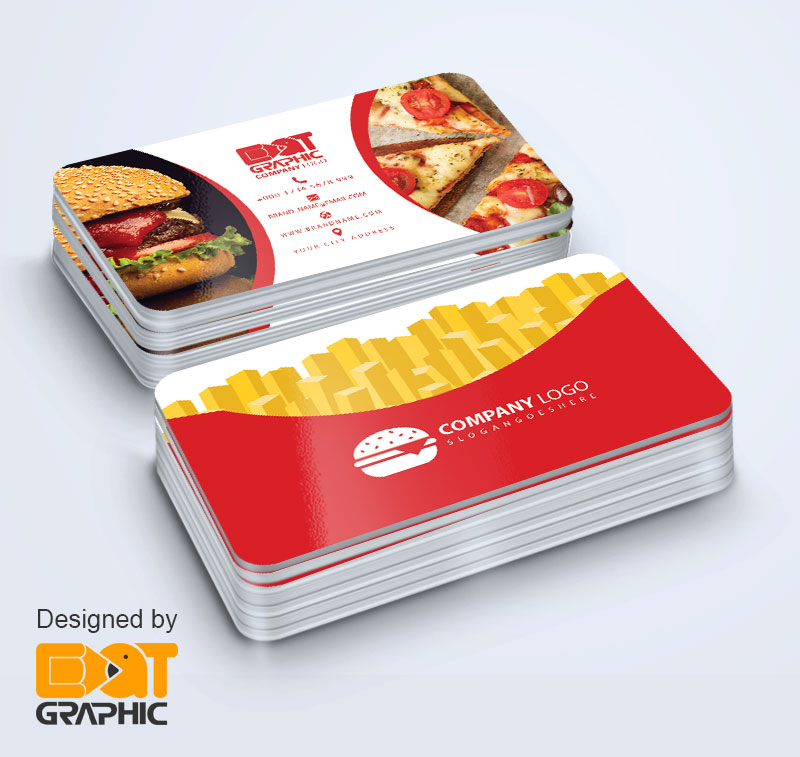 Fast Food business card psd