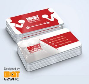 fitness business card template 1