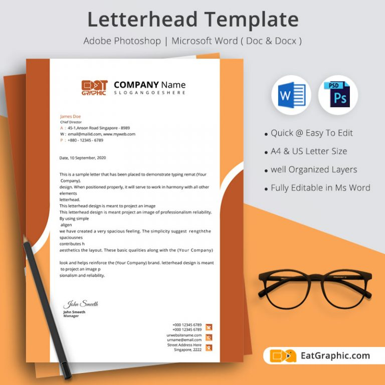 letterhead template docx download
