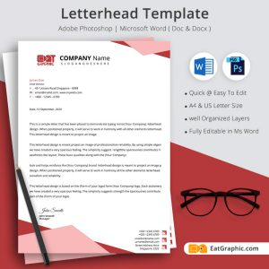 word doc letterhead template download