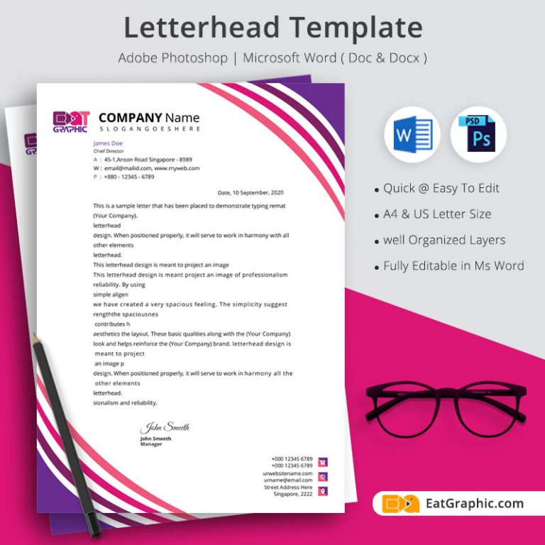corporate letterhead template psd